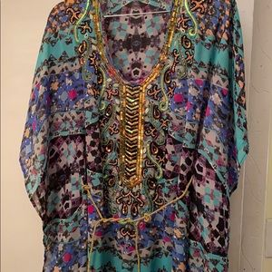 Gorgeous Sparkling Flowing Kaftan  Dress NeverUsed